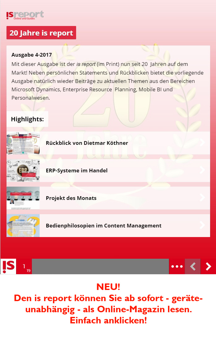 is report als Online-Magazin